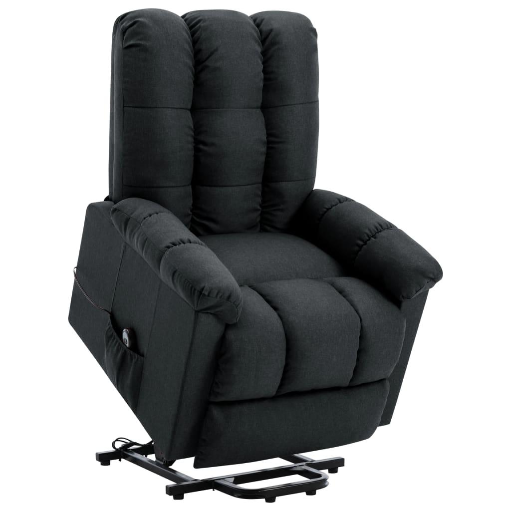 Sessel mit Aufstehhilfe Dunkelgrau Stoff
