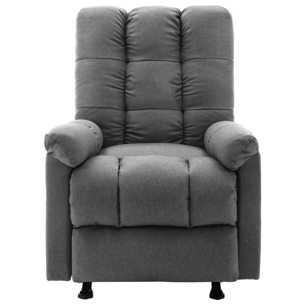 vidaXL Massagestoel verstelbaar stof lichtgrijs