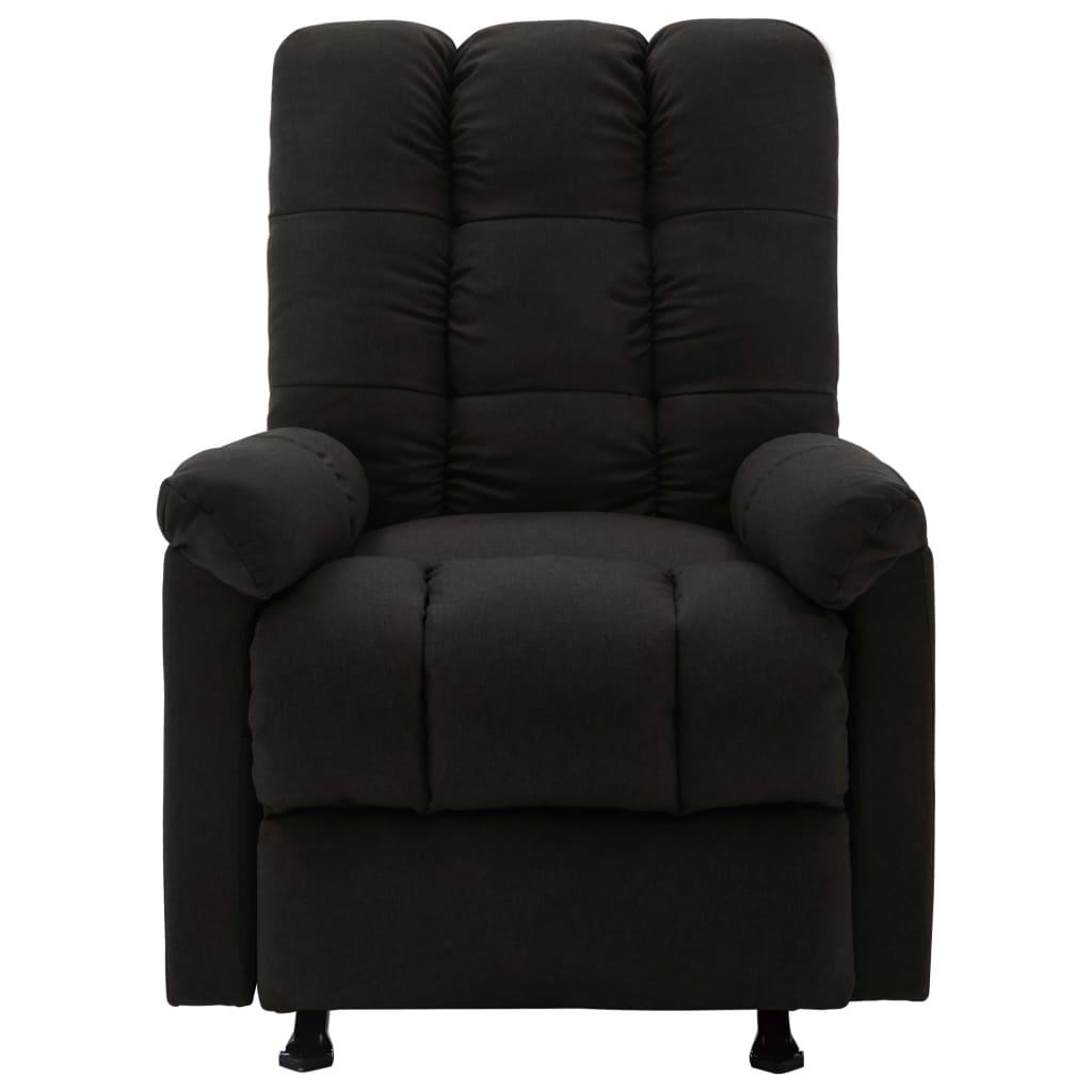 vidaXL Massagestoel verstelbaar stof zwart