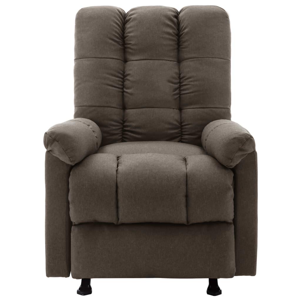 vidaXL Massagestoel verstelbaar stof bruin