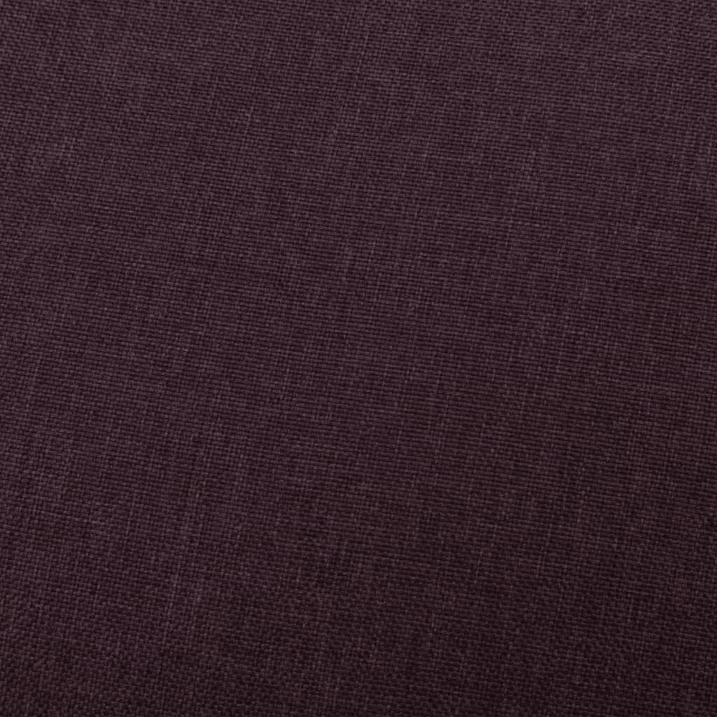 vidaXL Massagestoel verstelbaar stof paars
