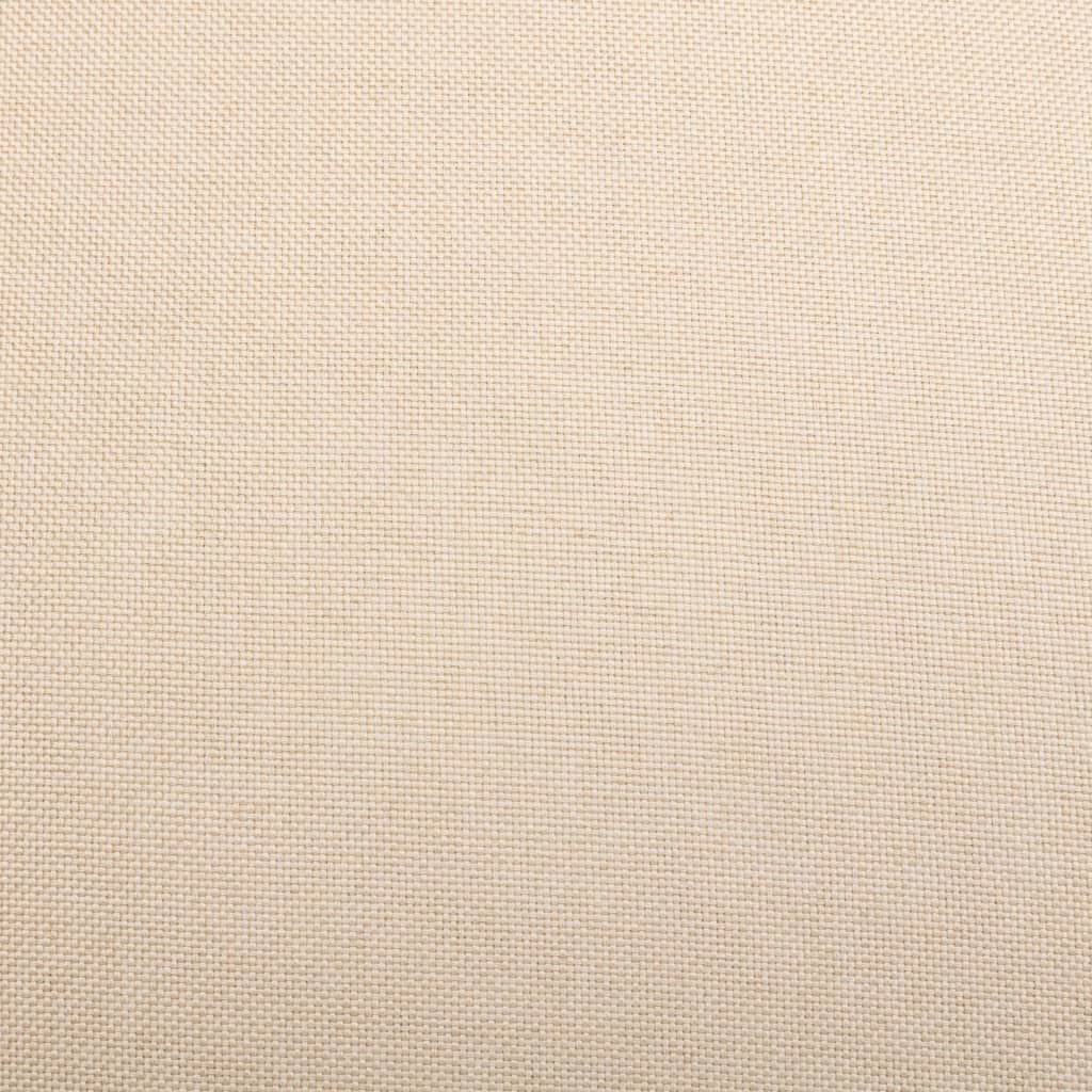 vidaXL Massagestoel verstelbaar stof crèmekleurig