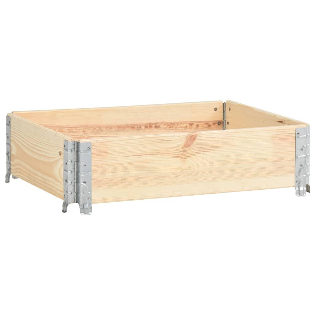vidaXL Strat înălțat, 60 x 80 cm, lemn masiv de pin vidaxl.ro
