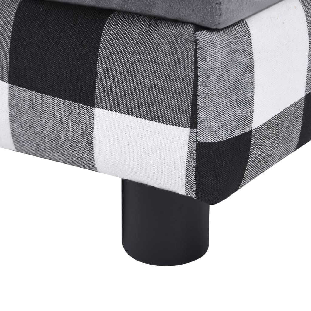 Hondenbank 57x34x36 cm pluche grijs