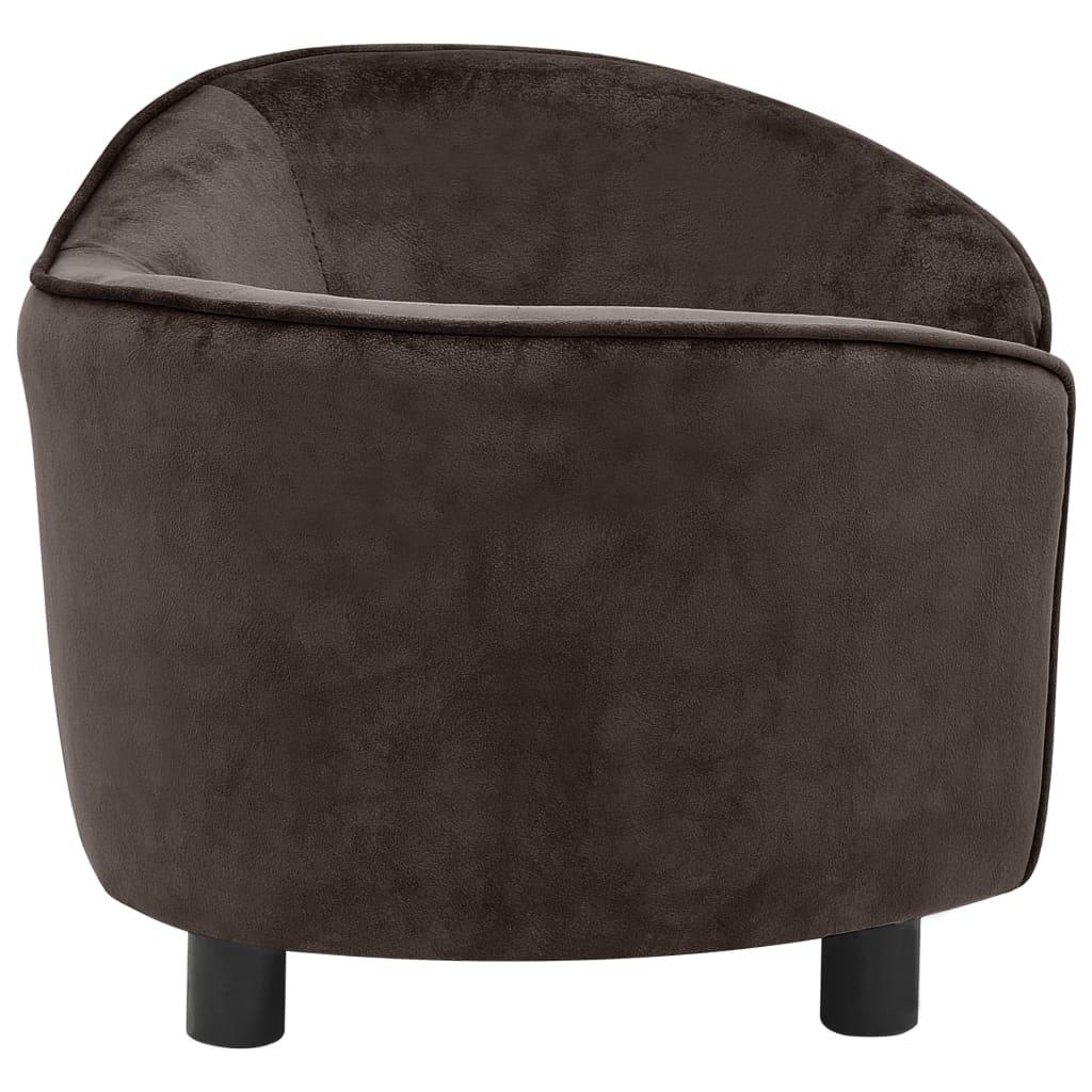 Hondenbank 69x49x40 cm pluche bruin
