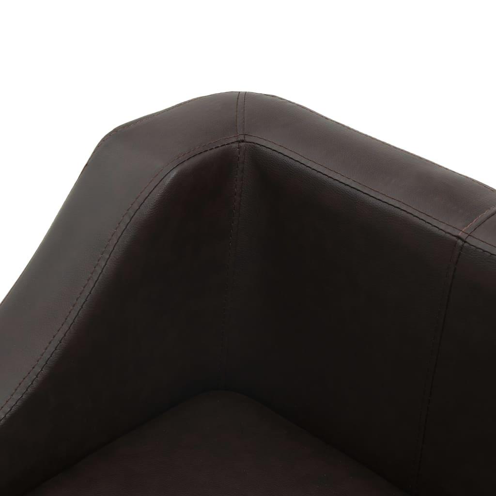 Hondenbank 67x52x40 cm kunstleer bruin