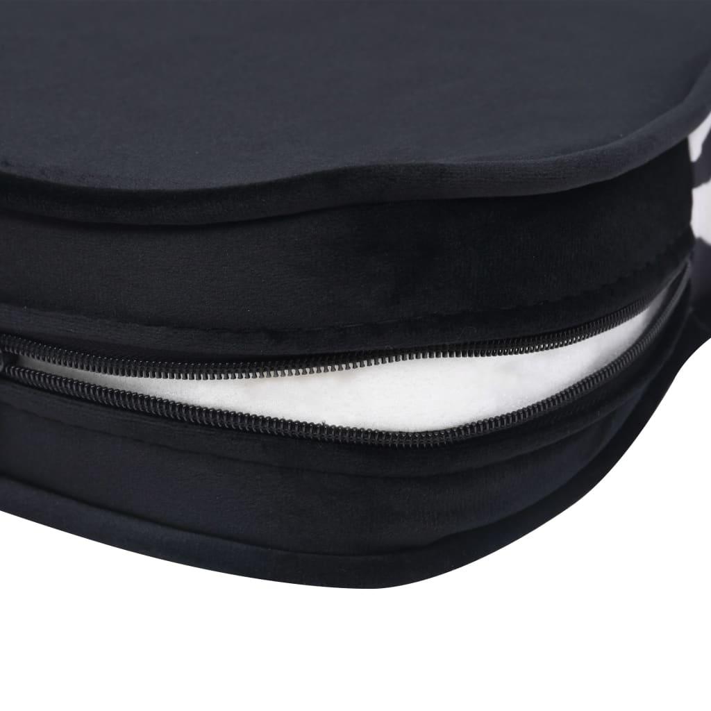 Hondenbank 68x38x38 cm pluche zwart