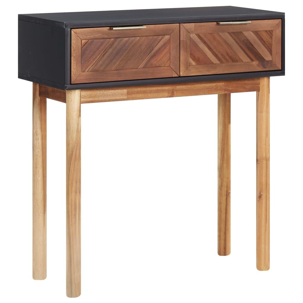 vidaXL Table console 70x30x75 cm Bois d'acacia solide et MDF