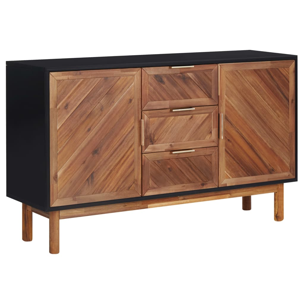 vidaXL Servantă, 115 x 35 x 70 cm, lemn masiv de acacia și MDF poza vidaxl.ro