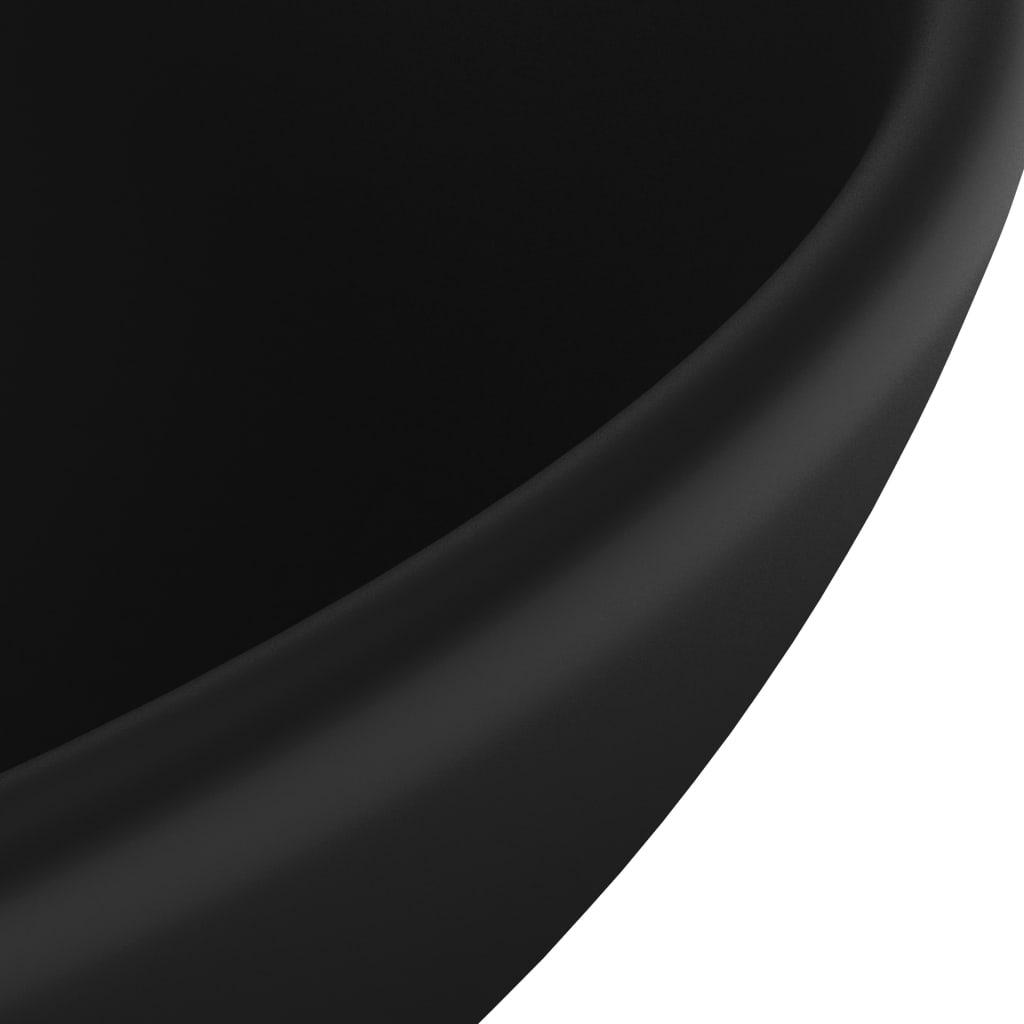 Wastafel rond 32,5x14 cm keramiek matzwart