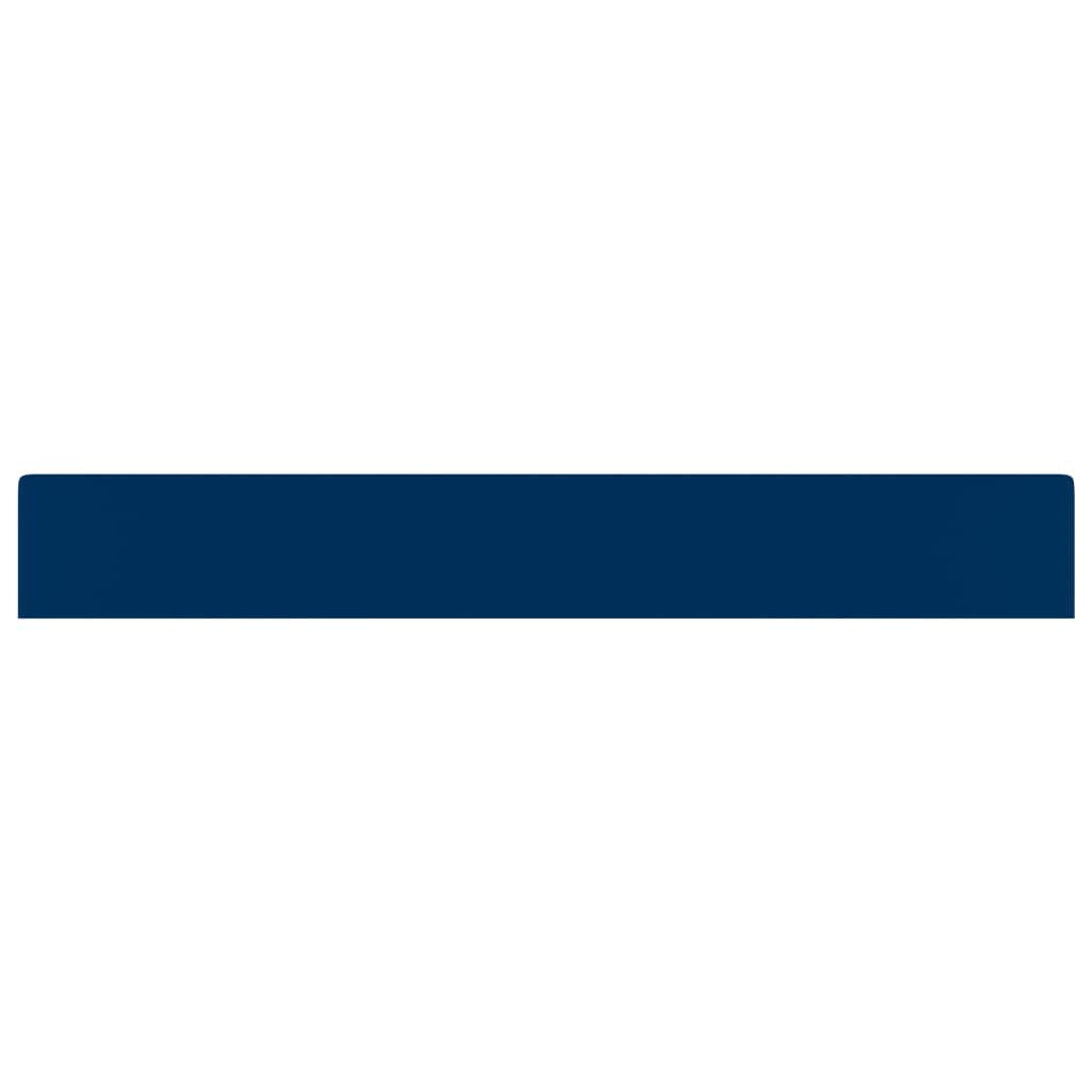 vidaXL Wastafel met kraangat 60x46 cm keramiek mat donkerblauw