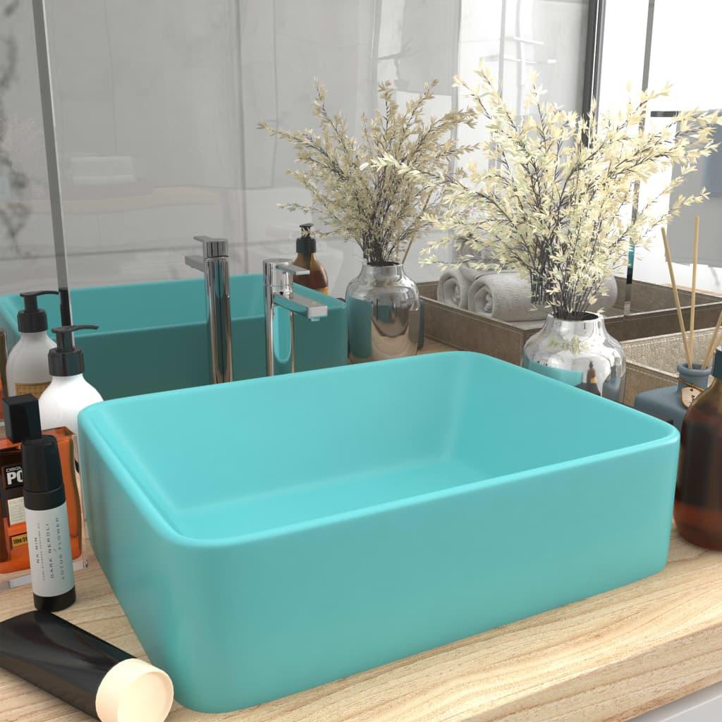 vidaXL Chiuvetă de baie lux, verde deschis mat, 41x30x12 cm, ceramică poza 2021 vidaXL
