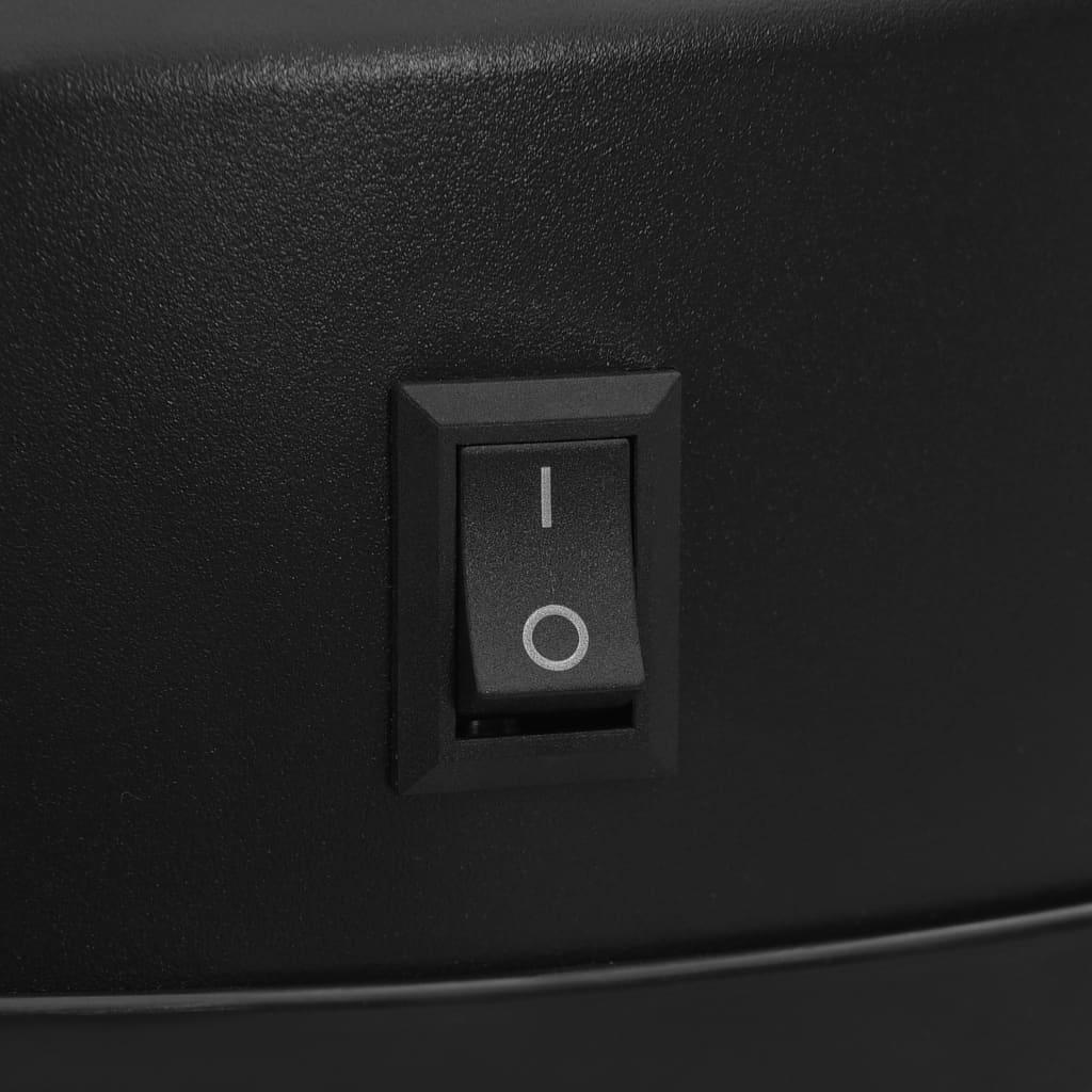 vidaXL Prullenbak met automatische sensor 40 L koolstofstaal zwart