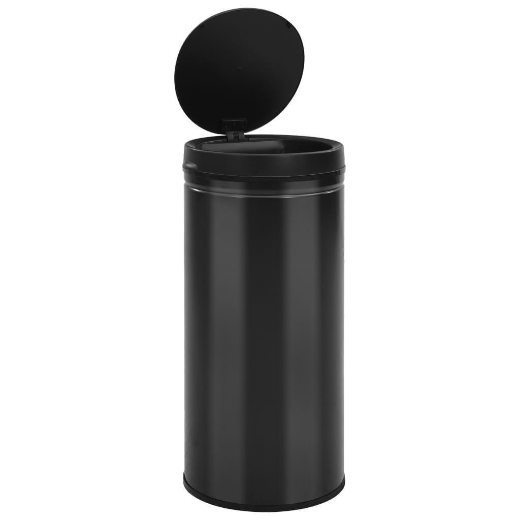 vidaXL Prullenbak met automatische sensor 80 L koolstofstaal zwart