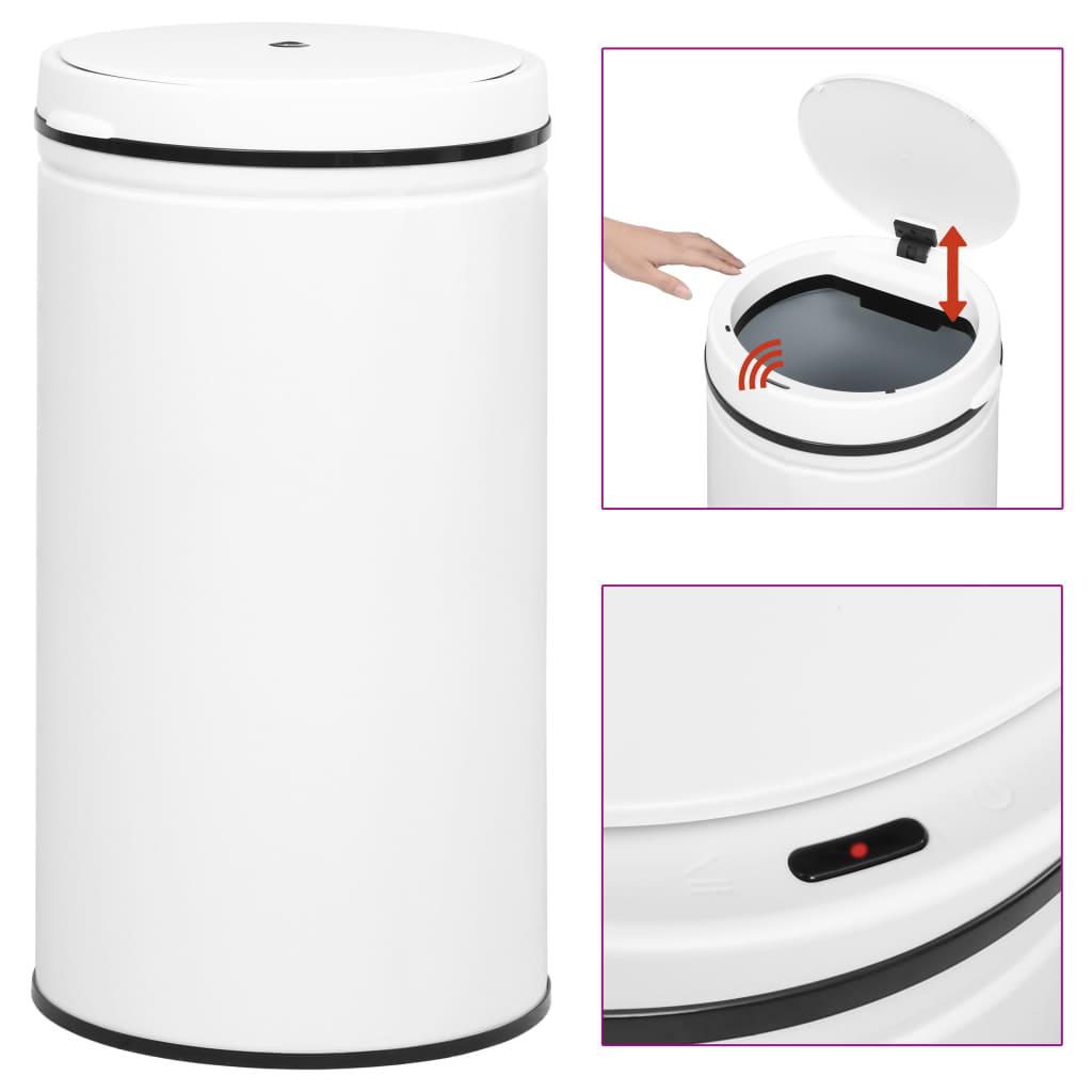 Odpadkový koš s automatickým senzorem 60 l uhlíková ocel bílý