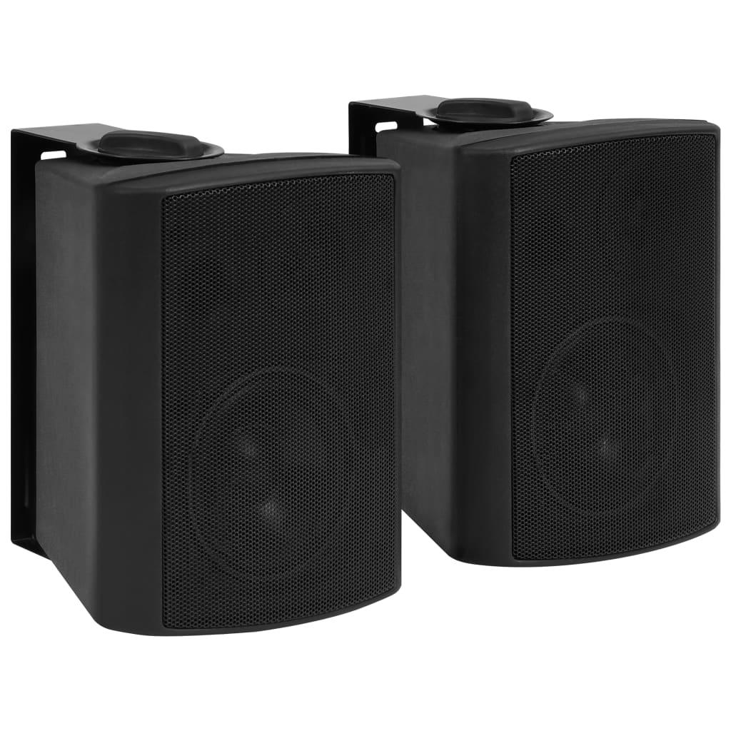 vidaXL Boxe stereo de perete, interior/exterior, 2 buc. negru, 80 W poza 2021 vidaXL