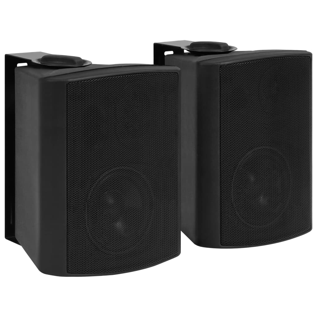 vidaXL Boxe stereo de perete, interior/exterior, 2 buc. negru, 100 W poza 2021 vidaXL
