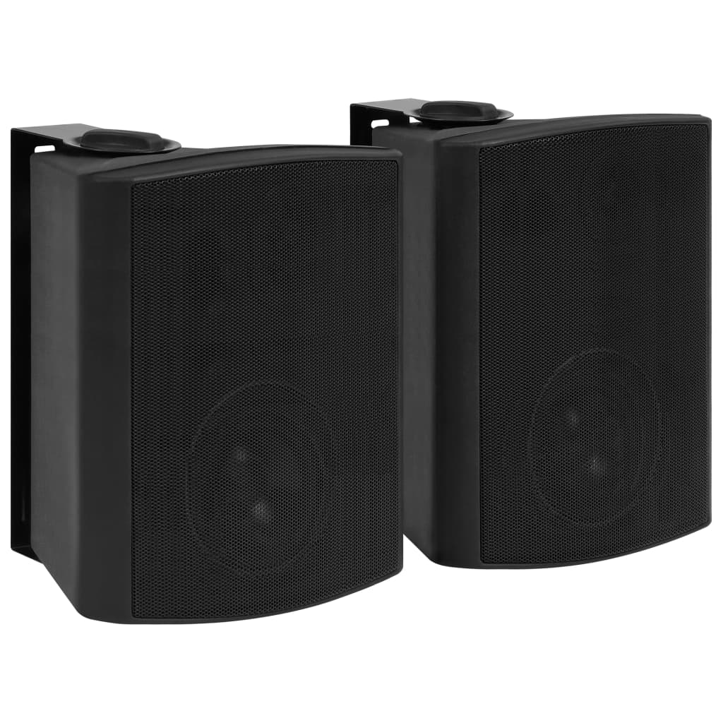 Nástěnné stereo reproduktory 2 ks černé indoor outdoor 120 W