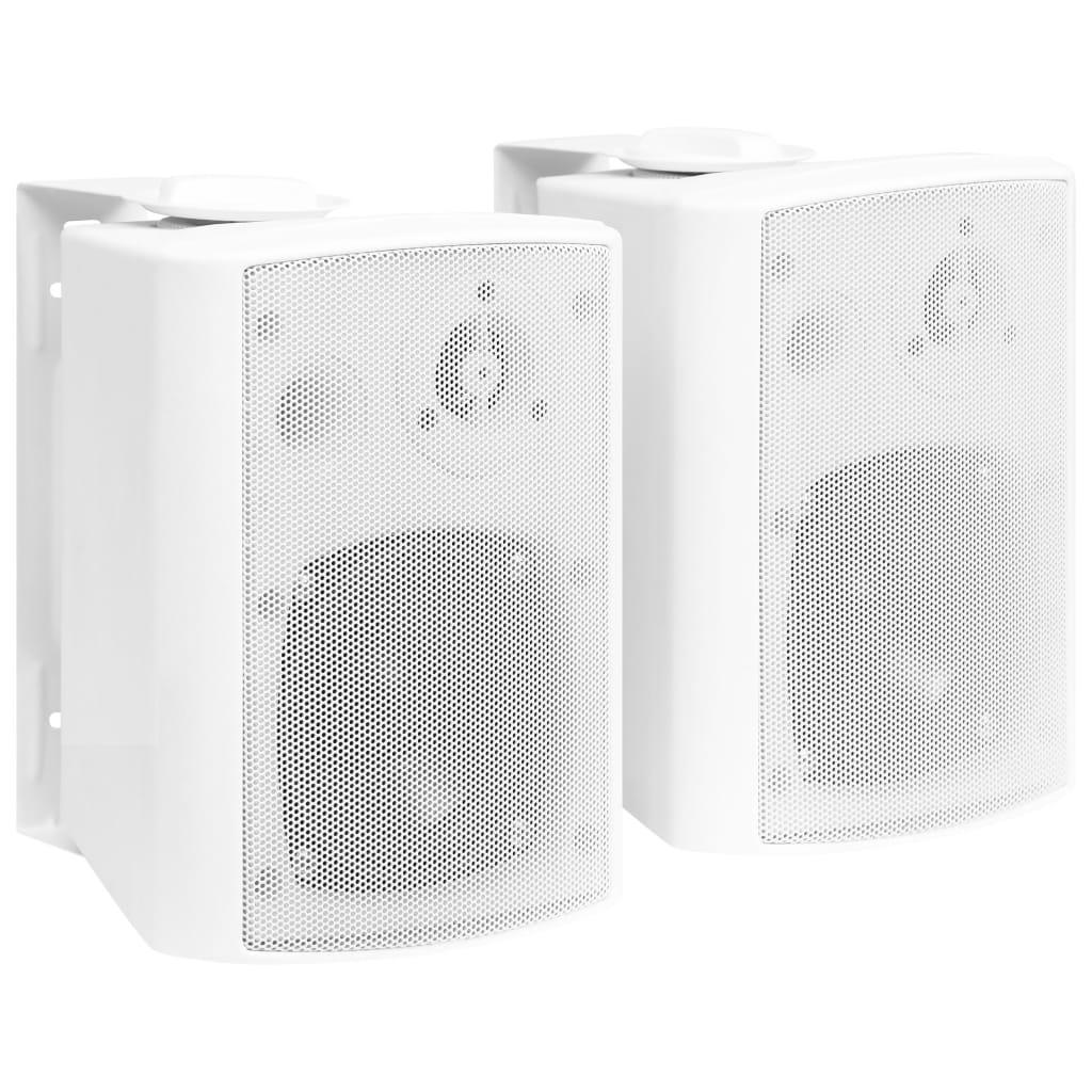vidaXL Boxe stereo de perete interior/exterior, 2 buc., alb, 80 W poza 2021 vidaXL