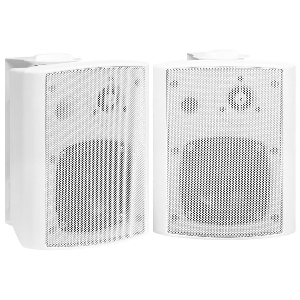 Foto van vidaXL Stereoluidsprekers wandmontage 2 st 80 W wit