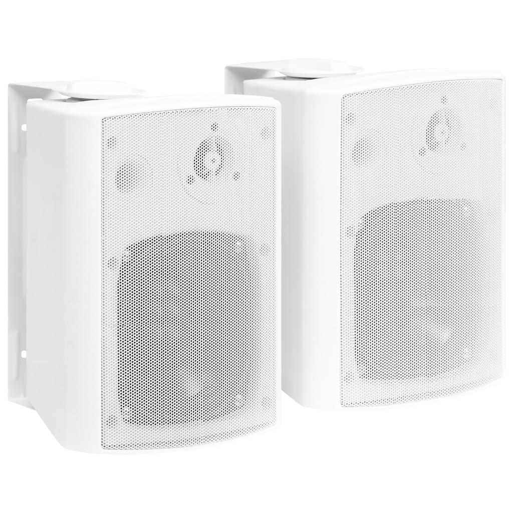vidaXL Boxe stereo de perete, interior/exterior, 2 buc., alb, 100 W imagine vidaxl.ro