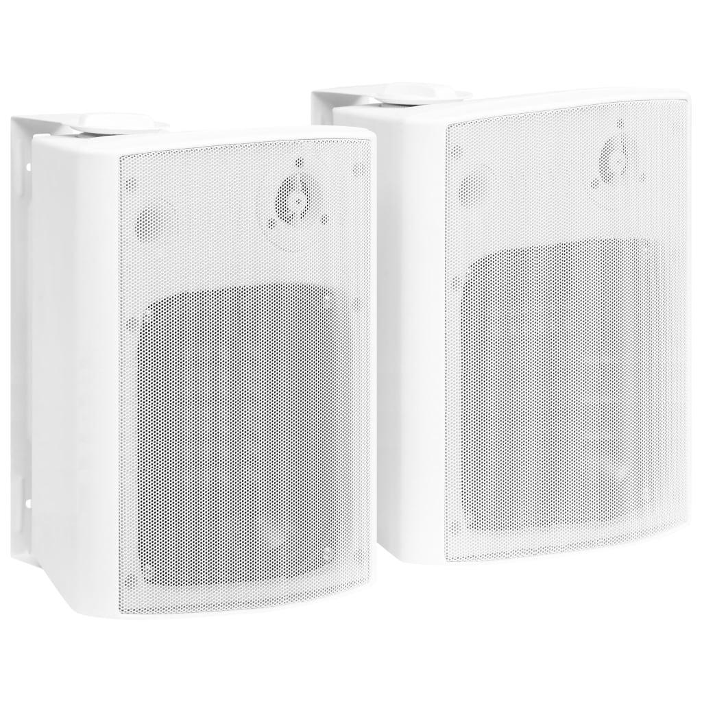 vidaXL Boxe stereo de perete interior/exterior, 2 buc. alb, 120 W vidaxl.ro