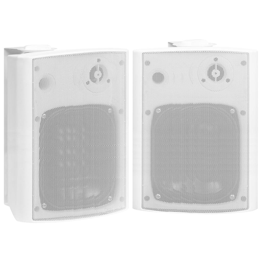vidaXL Stereoluidsprekers wandmontage 2 st 120 W wit