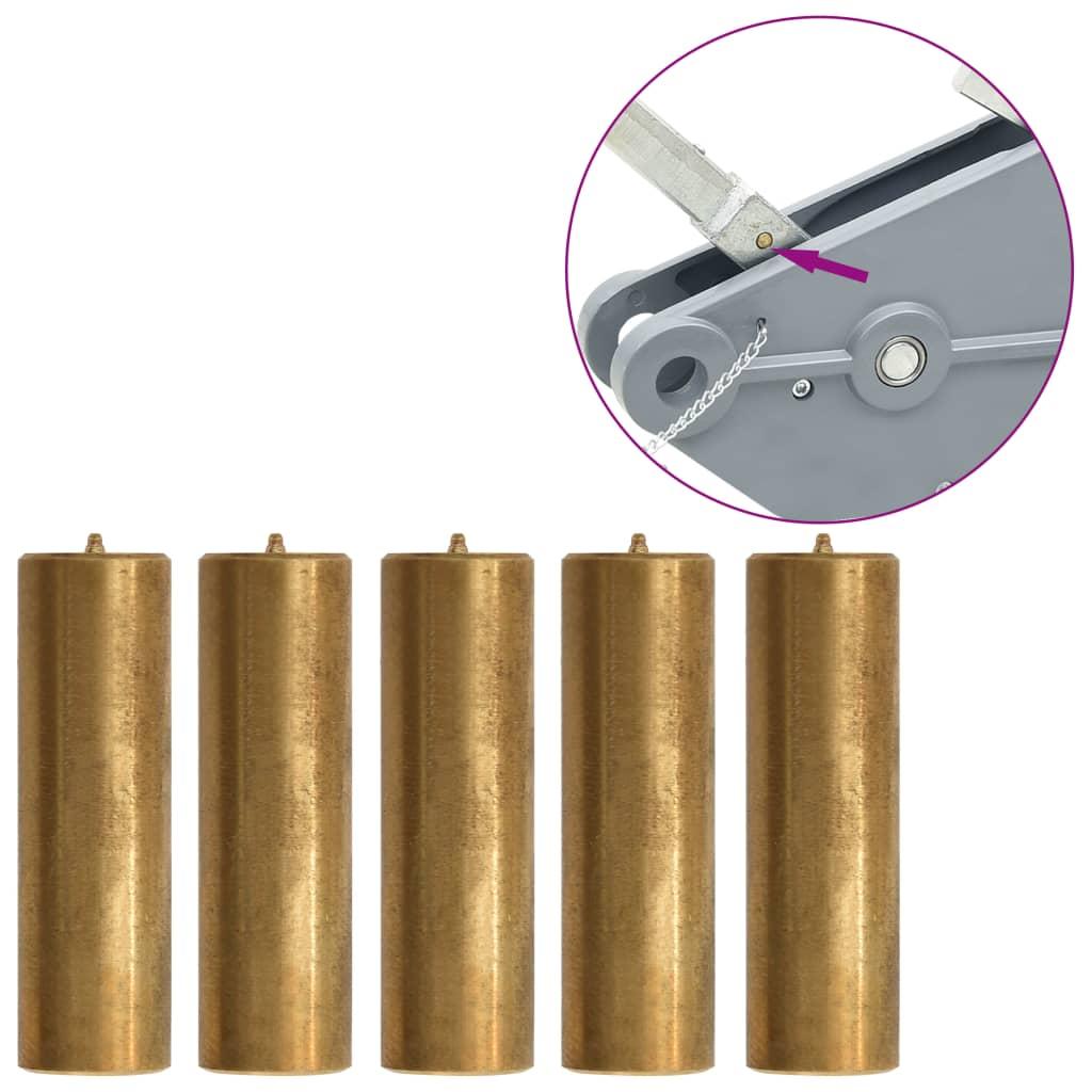 Střižné kolíky pro lanový kladkostroj 5 ks mosazné