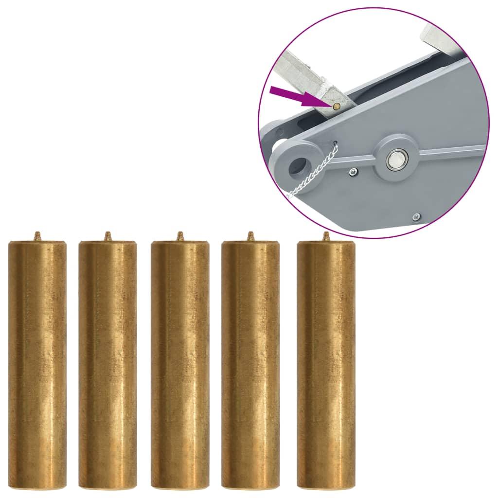 Střižné kolíky pro lanový kladkostroj 1600/3200 kg 5 ks mosazné