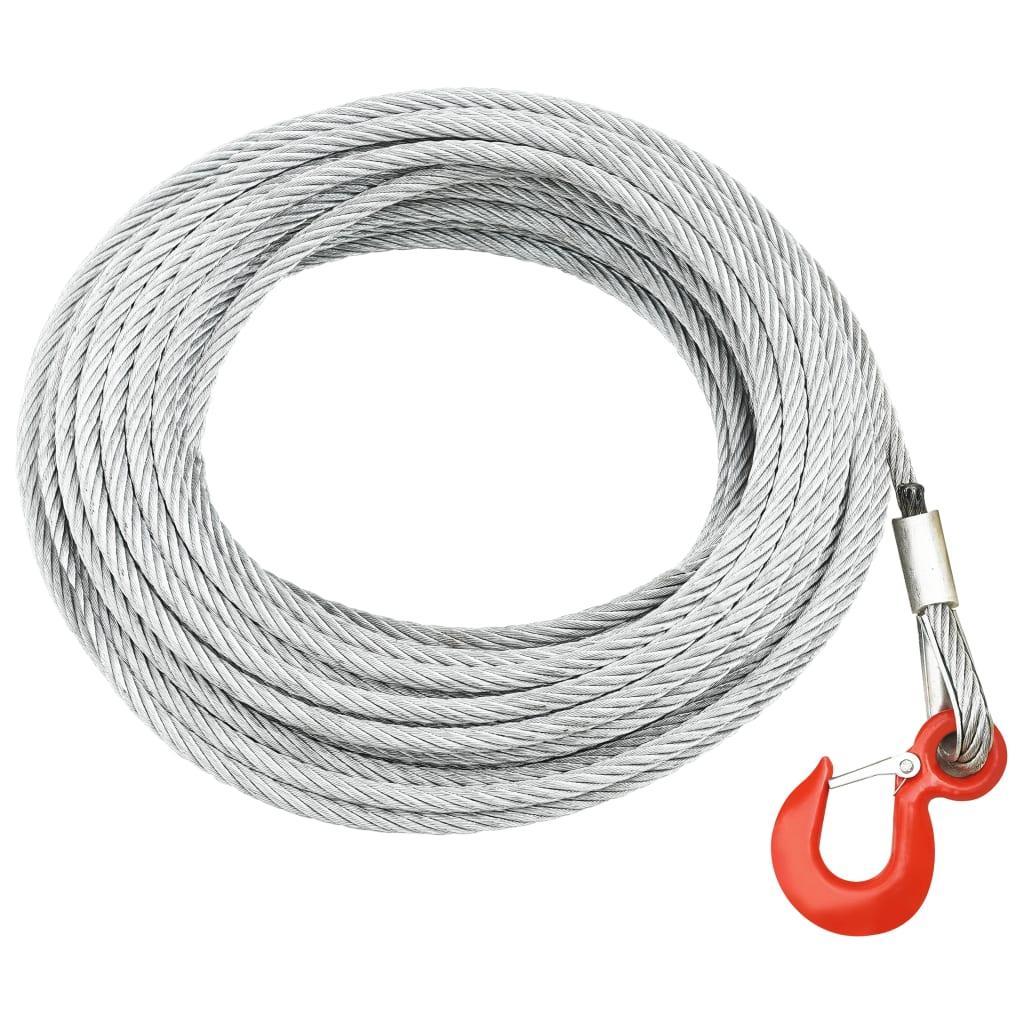 vidaXL Cablu din frînghie de sârmă 800 kg 20 m imagine vidaxl.ro