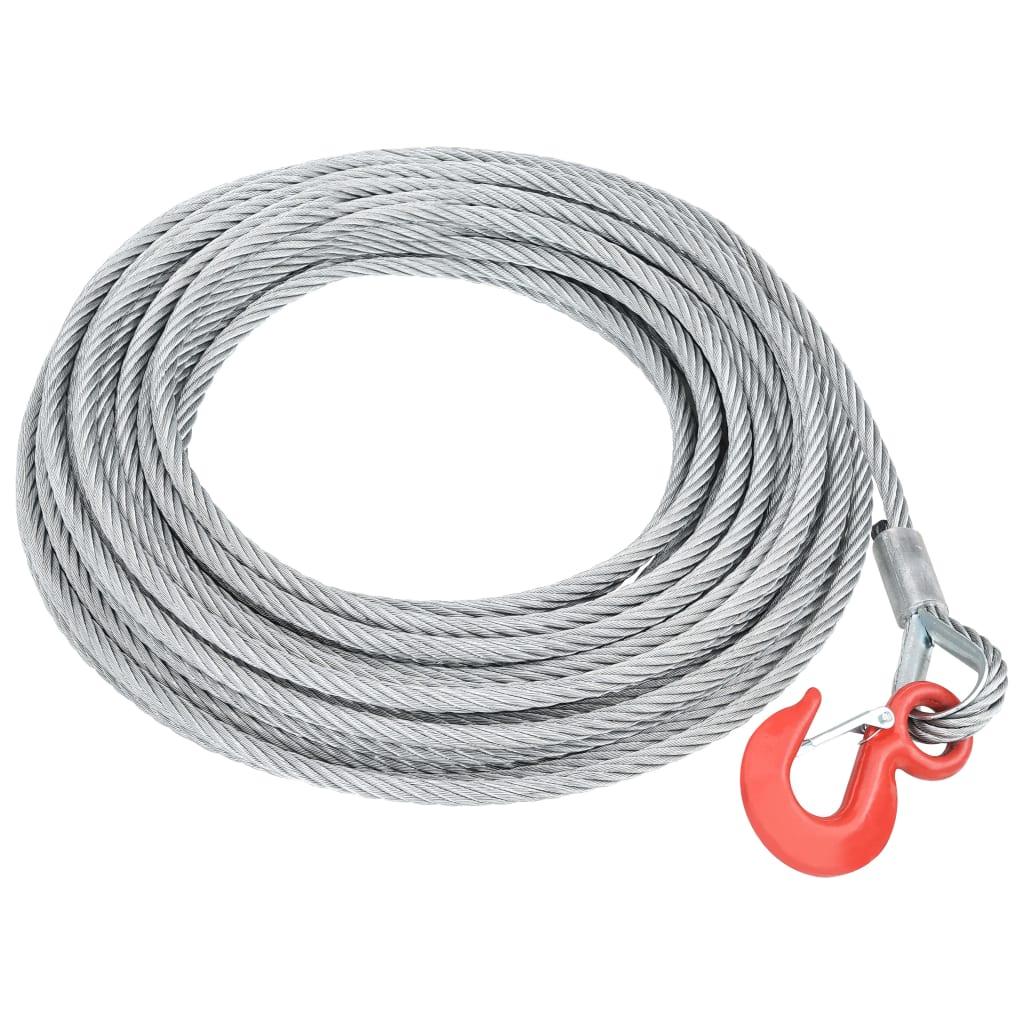 vidaXL Cablu din frânghie de sârmă 1600 kg 20 m imagine vidaxl.ro