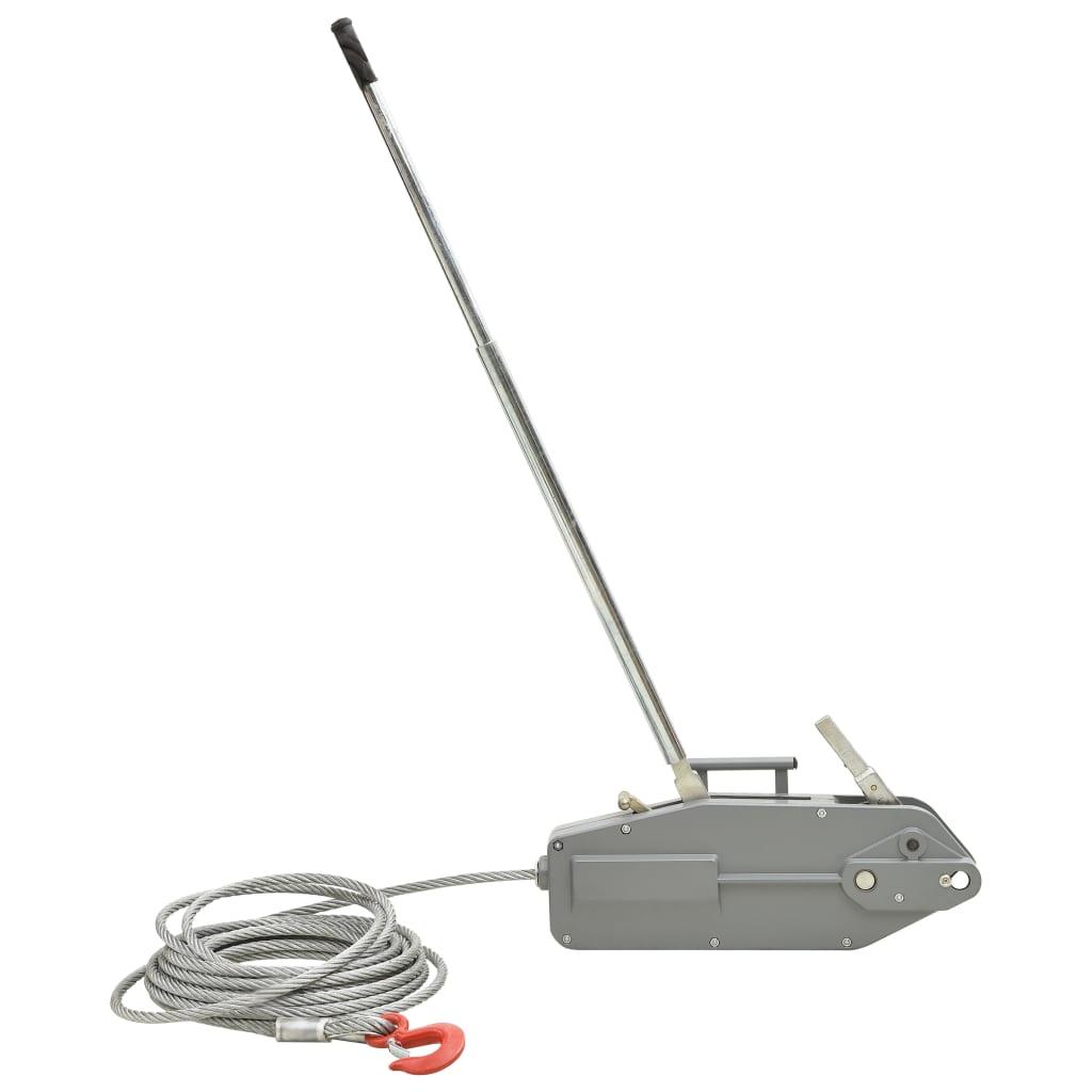 vidaXL Troliu de ridicare cu cablu de sârmă, 3200 kg imagine vidaxl.ro