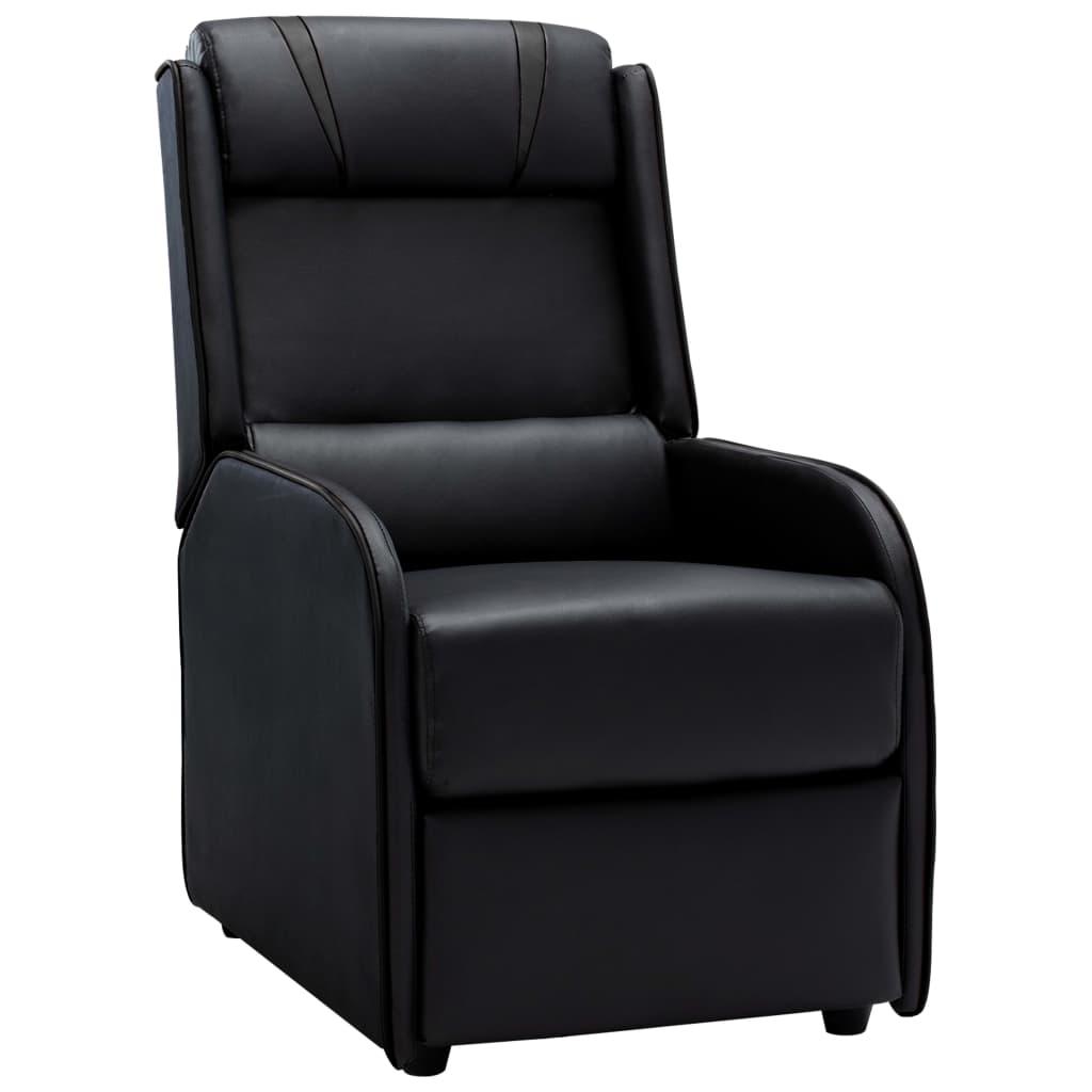 vidaXL Chaise inclinable Noir et gris Similicuir