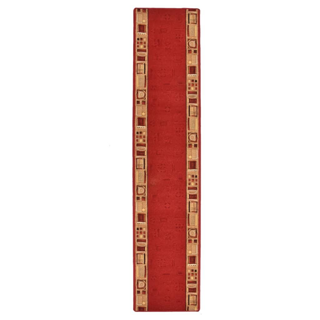vidaXL Covor traversă, suport gel, roșu, 67 x 300 cm poza 2021 vidaXL