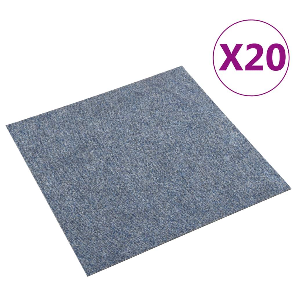 vidaXL Dale mochetă pentru podea, 20 buc., albastru, 5 m² vidaxl.ro