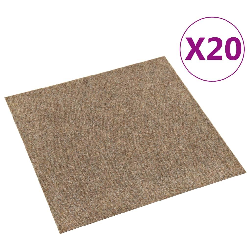 vidaXL Tapijttegels 20 st 5 m² beige