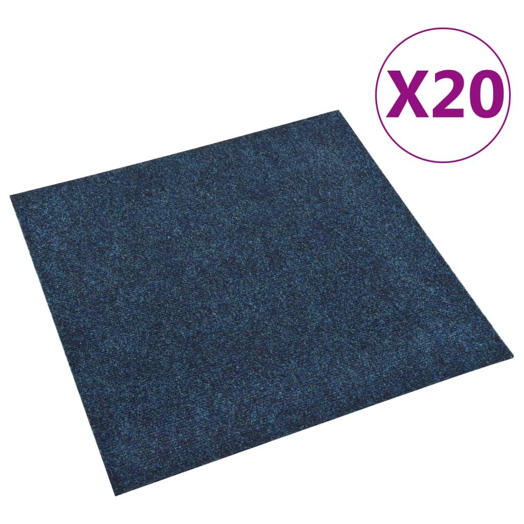 vidaXL Dale mochetă pentru podea, 20 buc., bleumarin, 5 m² poza vidaxl.ro