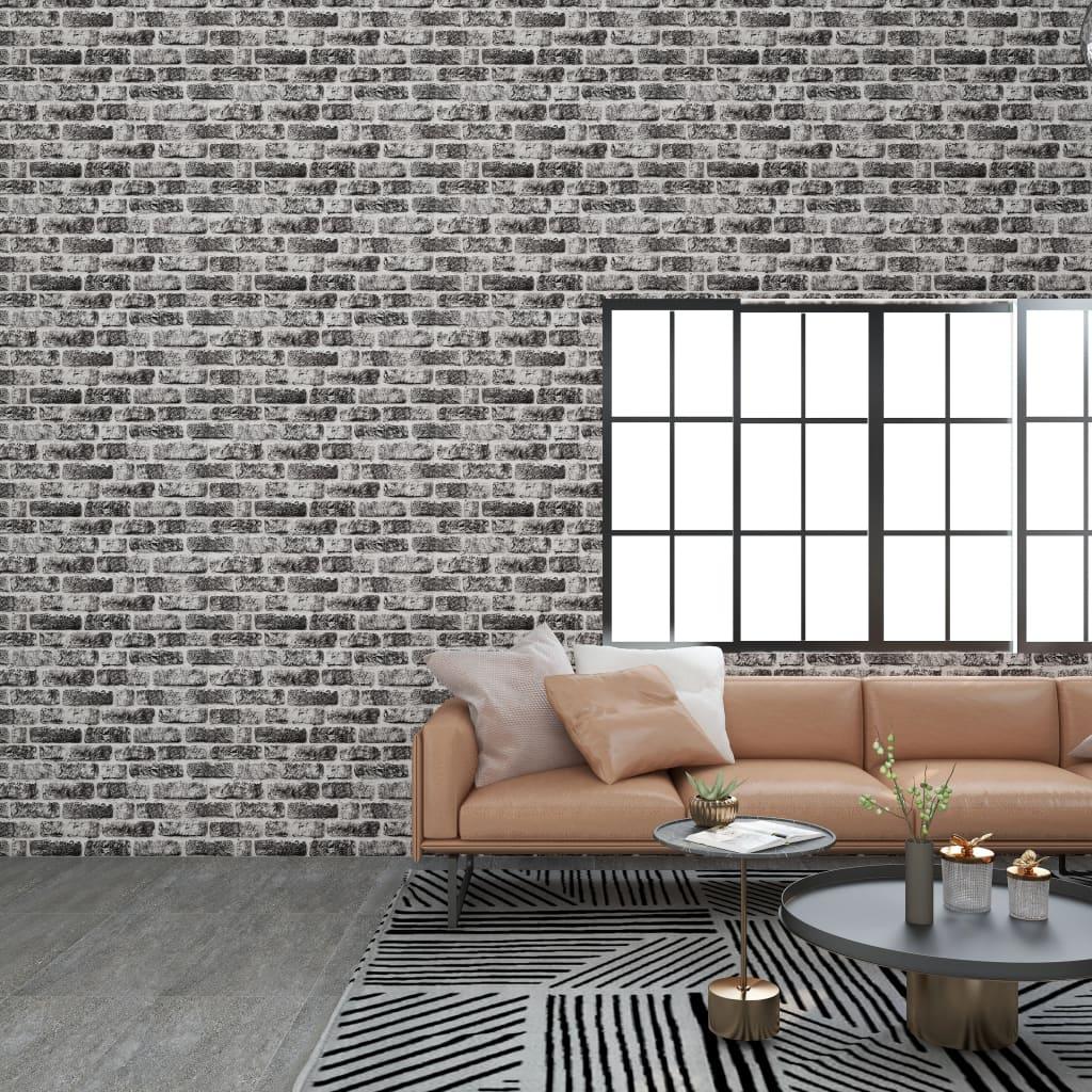 vidaXL Panouri de perete 3D, model cărămidă, gri închis, 11 buc., EPS vidaxl.ro