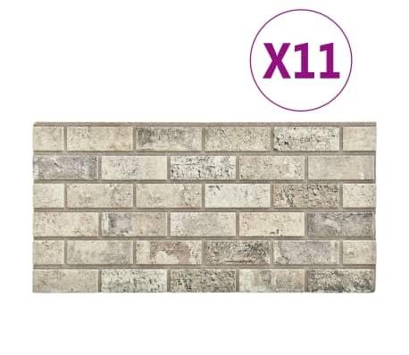 vidaXL 11 st Wandpanelen 3D zandkleurige baksteen EPS