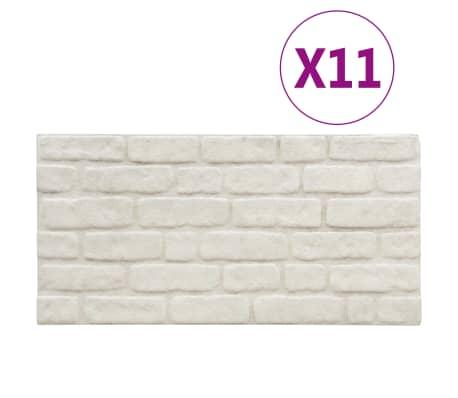 vidaXL 3D-Wandverkleidungen 11 Stk. Weiß Steinoptik EPS