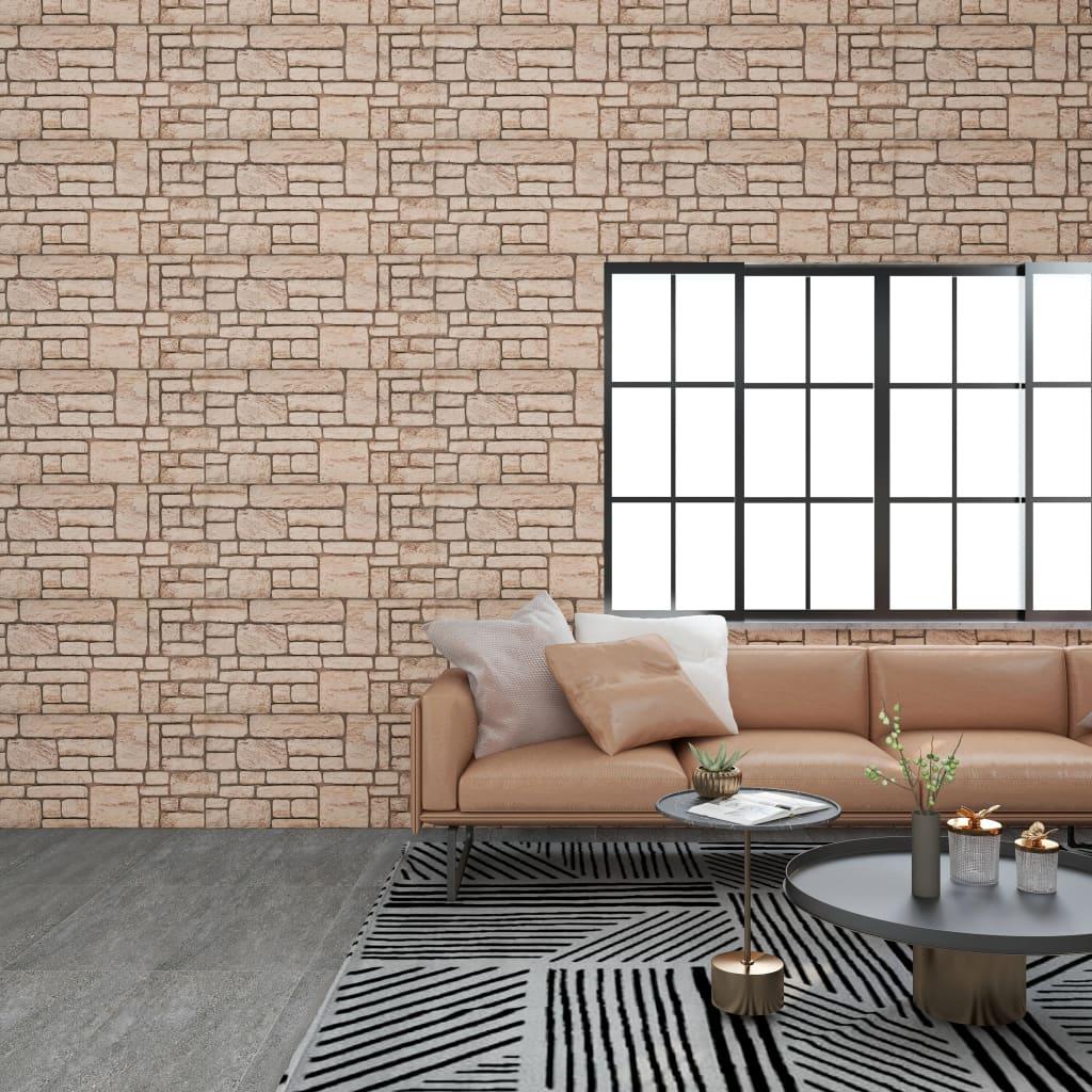 vidaXL Panouri de perete 3D, model cărămidă, bej, 11 buc., EPS vidaxl.ro