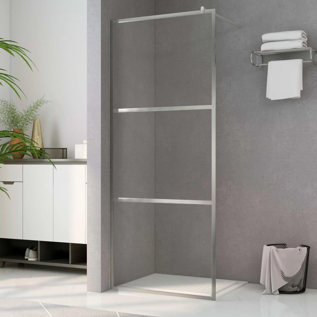 vidaXL Paravan de duș walk-in, 100 x 195 cm, sticlă ESG transparentă imagine vidaxl.ro