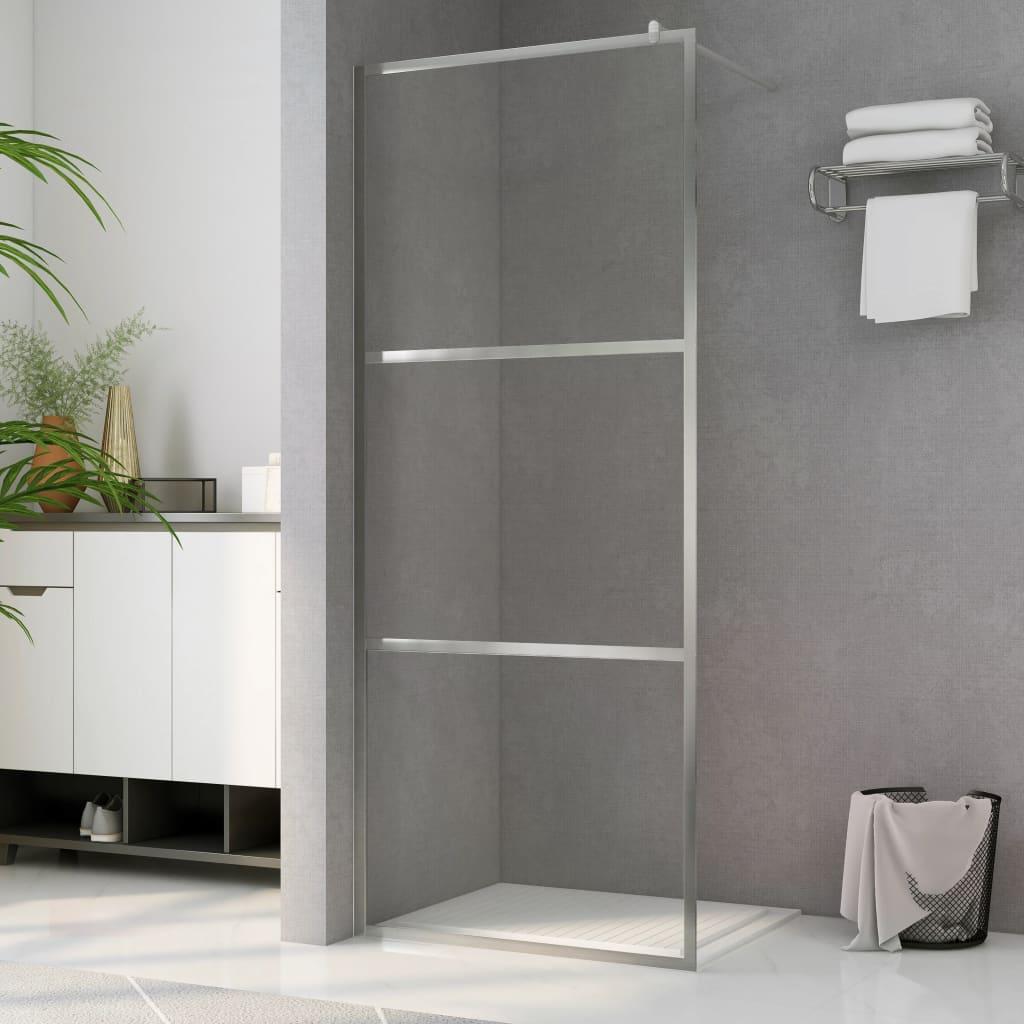vidaXL Paravan de duș walk-in, 115 x 195 cm, sticlă ESG transparentă poza vidaxl.ro