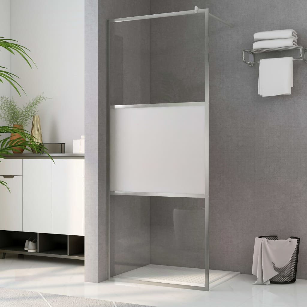 vidaXL Paravan de duș walk-in, 115 x 195 cm, sticlă ESG semi-mată imagine vidaxl.ro