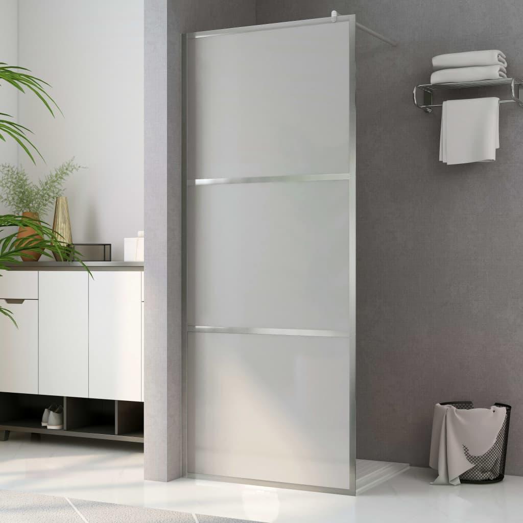 vidaXL Paravan de duș walk-in, 90 x 195 cm, sticlă ESG mată imagine vidaxl.ro