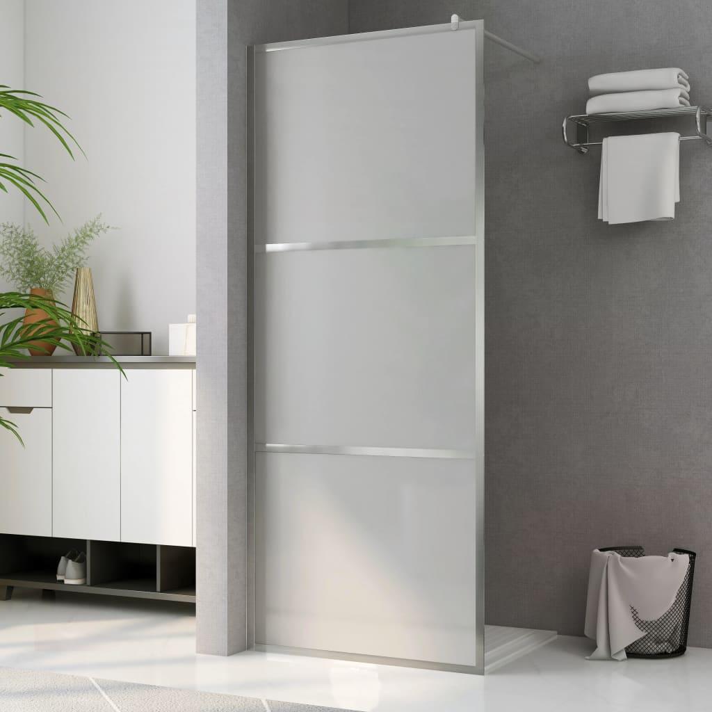 vidaXL Paravan de duș walk-in, 100 x 195 cm, sticlă ESG mată integral poza 2021 vidaXL