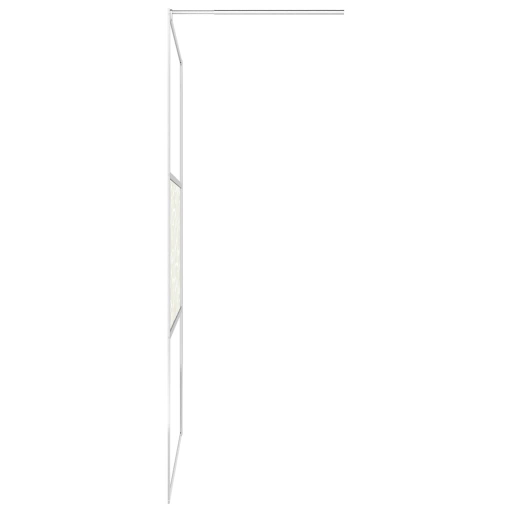 Inloopdouchewand met stenenmotief 140x195 cm ESG-glas