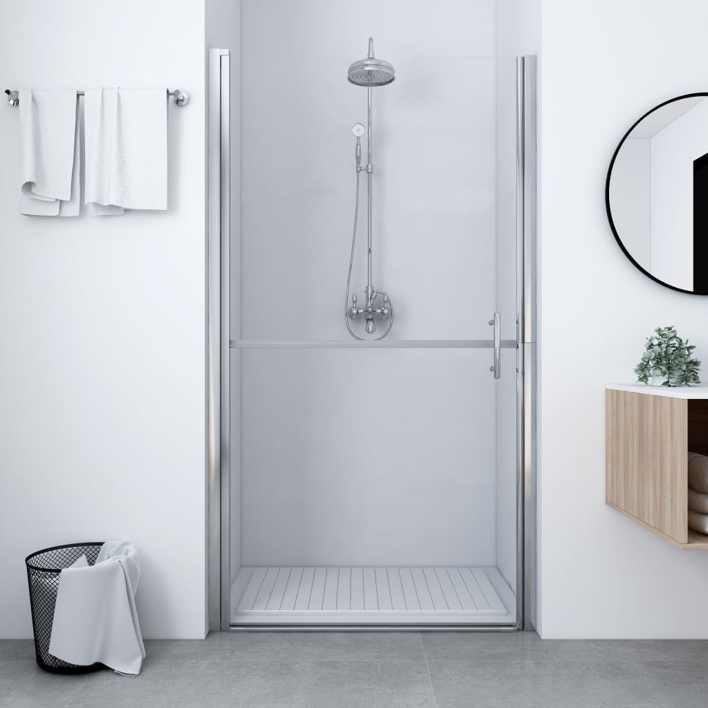 vidaXL Ușă de duș, negru, 81 x 195 cm, sticlă securizată poza 2021 vidaXL