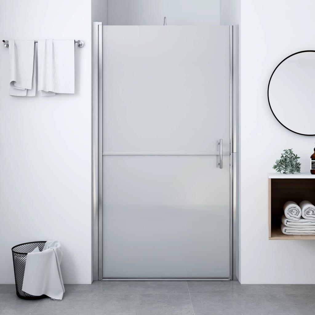 vidaXL Ușă de duș, 91 x 195 cm, sticlă securizată mată vidaxl.ro