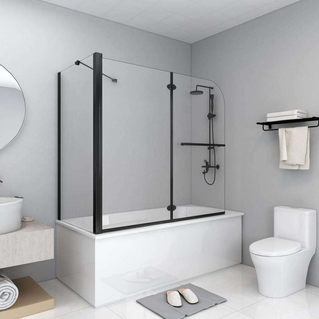 vidaXL Cabină de duș dublu-pliabilă, 120 x 68 x 130 cm, negru vidaxl.ro